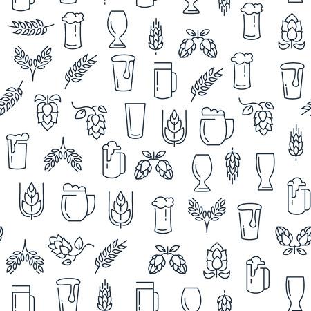 Zwart-wit naadloos patroon brouwen