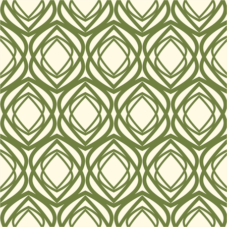 White and Green kaleidoscope Seamless Pattern