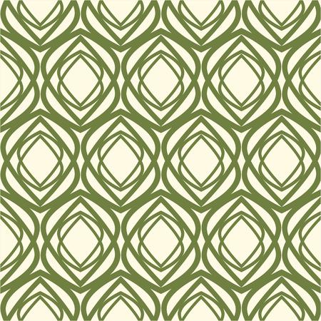 White and Green kaleidoscope Seamless Pattern Banco de Imagens - 94647532