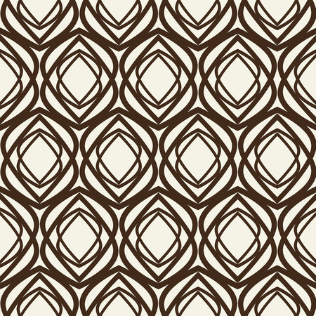 Monochrome kaleidoscope seamless pattern with repetition of geometric shape as flower button vector illustration Ilustração
