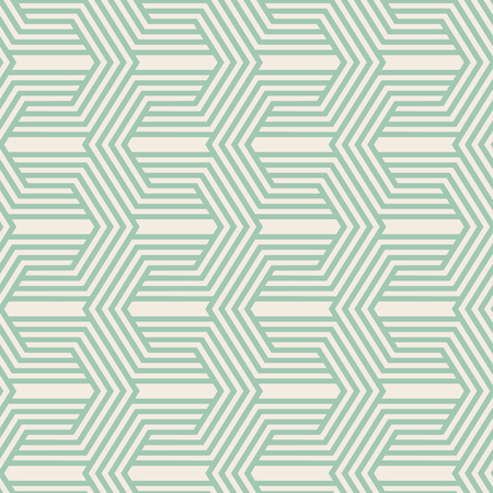 Kaleidoscope seamless pattern with repetition of geometric shape as arrows and as knitted pile fabric vector illustration Çizim
