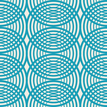 Padrão sem emenda de caleidoscópio decorativo com rodadas azuis como estrias na água e elementos geométricos simétricos vector a ilustração