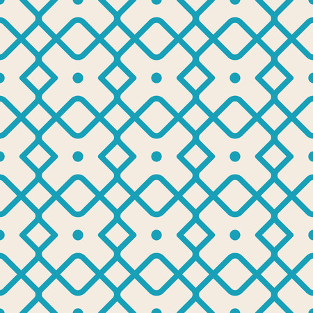 Seamless geometric square pattern with blue lines, many simple repeatable shapes as boxes on the white background vector illustration Imagens - 94645715