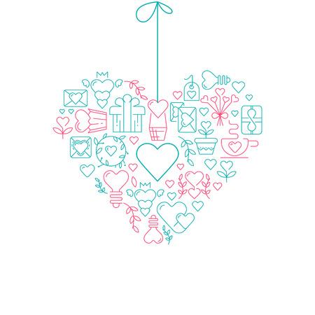 Stilisiertes Herz . Bilder Für Design . Vektor-Illustration ...