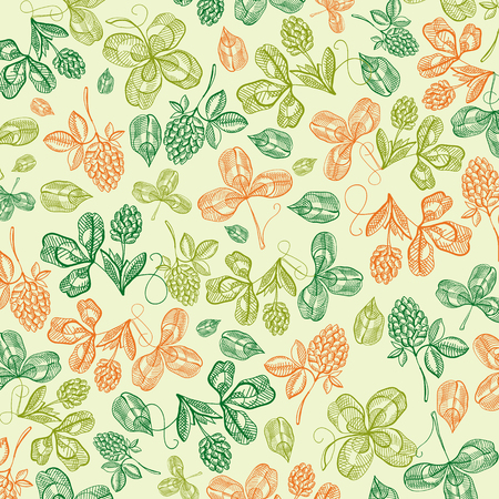 Floral St Patricks Day Light Background Ilustracja