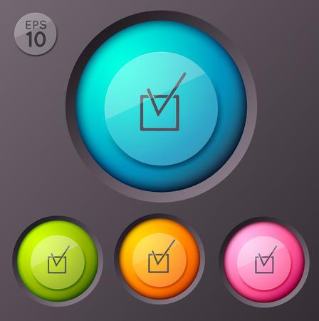 Checkbox Pictogram Buttons Background Çizim