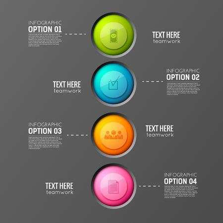 Round Buttons Teamwork Background Çizim