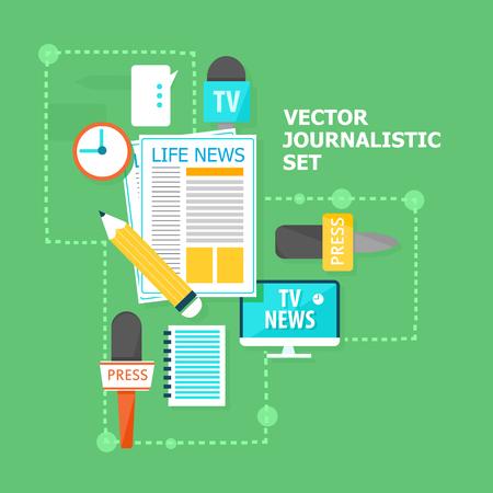 Mass Media Flat Concept