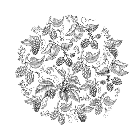 Cirkelpatroon Hop Foliated Doodle