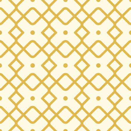 Seamless geometric square pattern with yellow lines, many simple repeatable shapes as boxes on the white background vector illustration