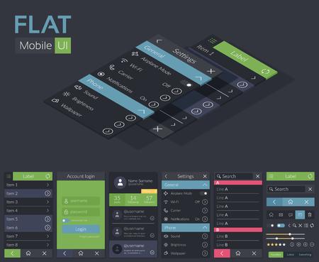 Mobile flat ui design template royalty free cliparts vectors and mobile flat ui design template stock vector 94981517 maxwellsz