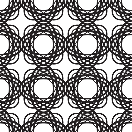 Pattern with repeating interweaving oval geometric shapes Illustration