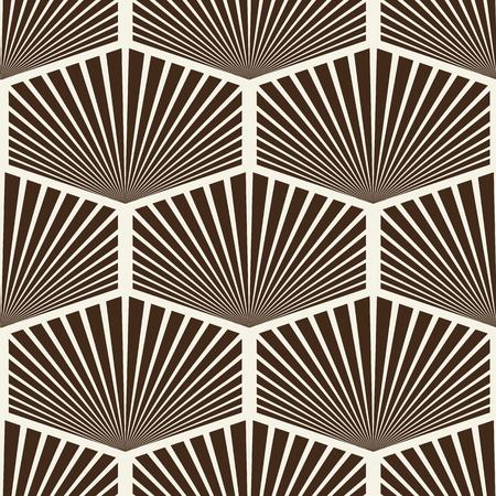 Modern Stylish Striped Hexagon Ornament