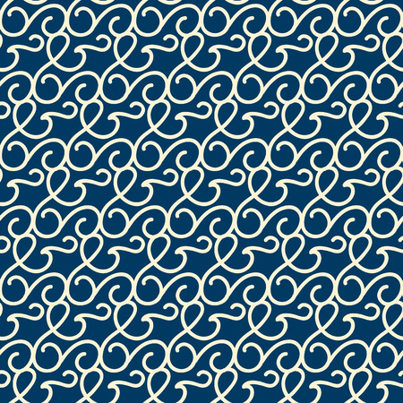 Seamless Background With Hand Drawing Swirly Ornament Illustration