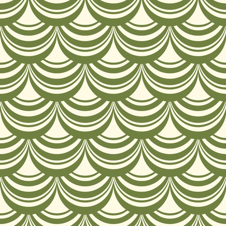 Green and white vintage monogram abstract seamless pattern background flat vector illustration