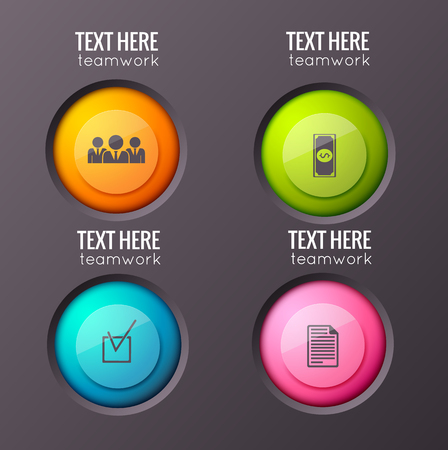 Business Round Buttons Background Çizim
