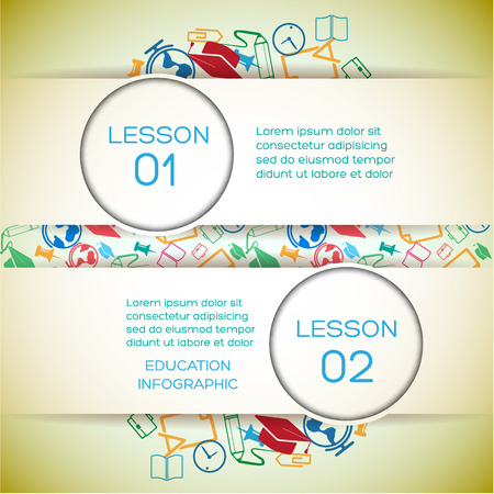 School Learning Infographic Concept
