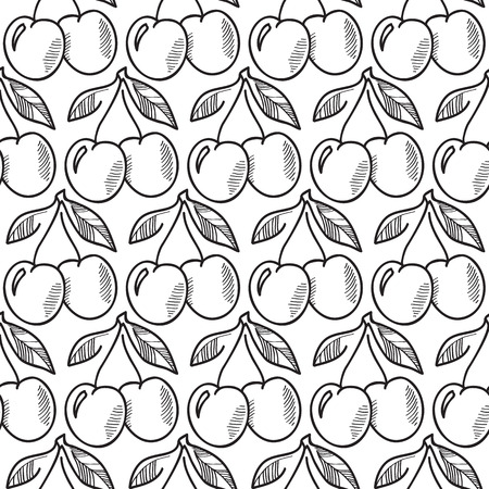 Abstract Fruit Seamless Pattern Çizim