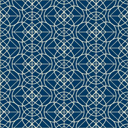 Geometrical Seamless Pattern In Linear Design