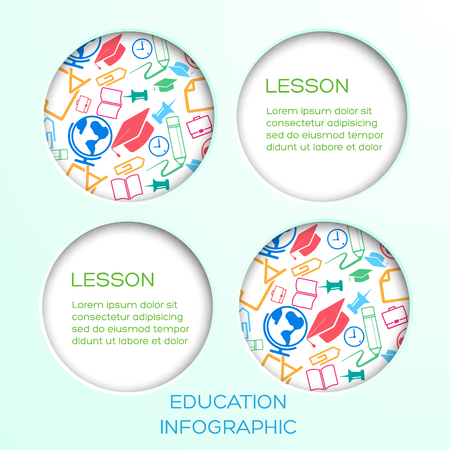 Abstract Education Infographic Concept