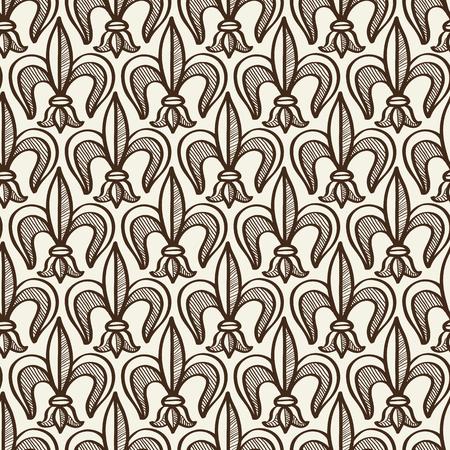 꽃 부 화 요소와 손으로 그린 원활한 패턴 일러스트