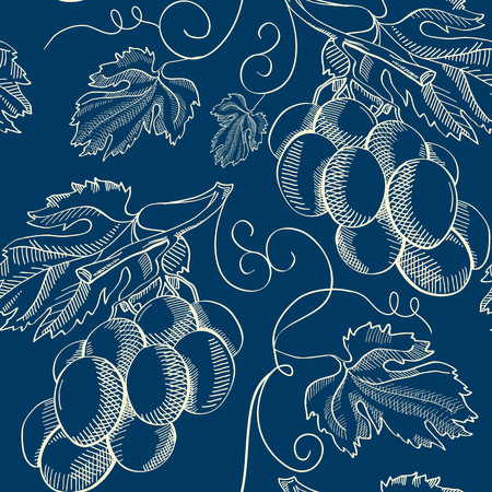 Abstract Natural Vintage Blue Seamless Pattern
