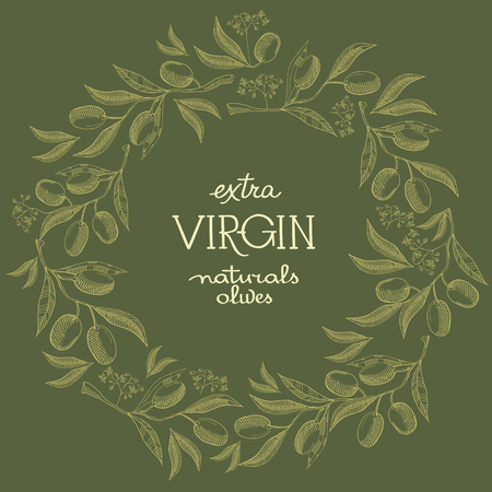 Olivine Colored Filigree Wreath Postcard