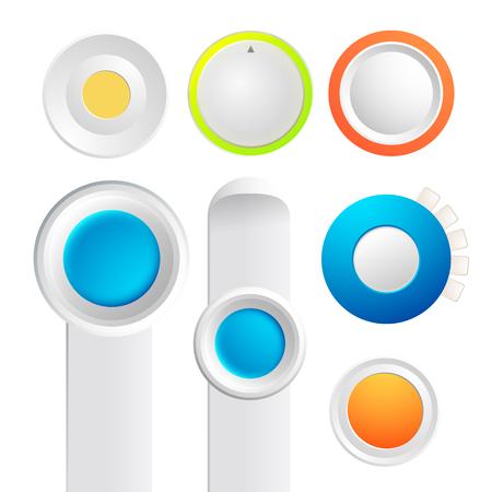 トグル ボタン コレクションのセット