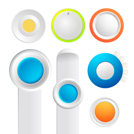 Set Of Toggle Buttons Collection