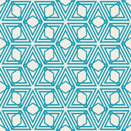 Modern Kaleidoscope Style Seamless Pattern