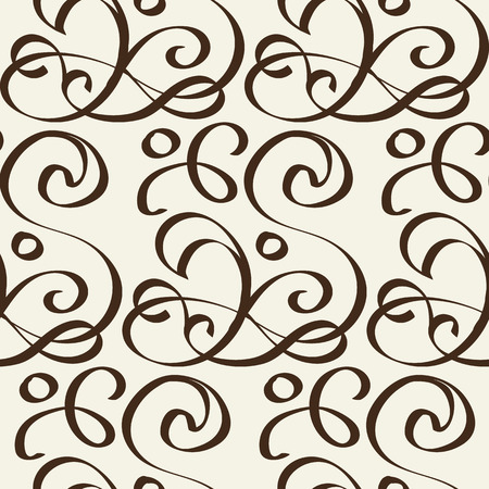 Abstract Seamless Undisciplined Style Black And White Pattern