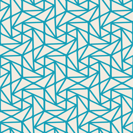 Abstract minimalistic seamless pattern with curved linear repeating structure in vintage style vector illustration