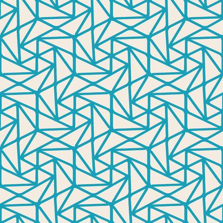Abstraktes minimalistisches nahtloses Muster mit gekrümmten linearen wiederholenden Struktur in der Weinleseart vector Illustration