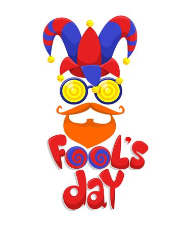 Colorful Fools Day Concept