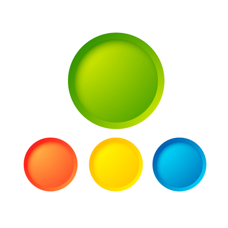 Abstract web buttons set with colorful blank round elements Illustration