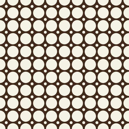 Minimal abstract seamless black and white pattern with repeatable mottled round shapes and spheres drawing on design background vector illustration.