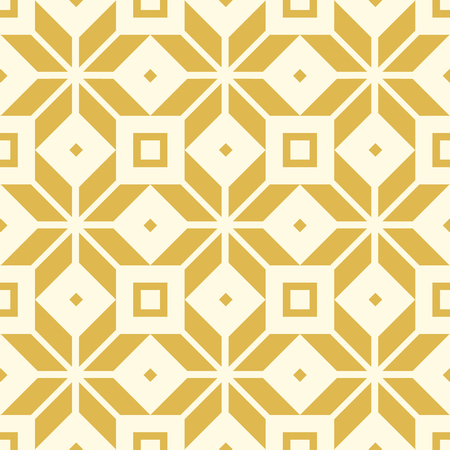 Abstract seamless pattern in kaleidoscope style with repeating four-cornered shapes and yellow lines vector illustration.