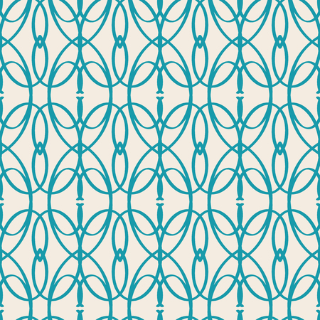 White and blue vintage seamless pattern flat vector illustration