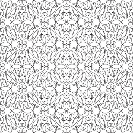 Abstract natural seamless pattern with floral repeating flowers and ornate structure