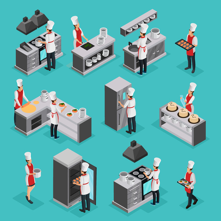 Isometric cooking process elements set