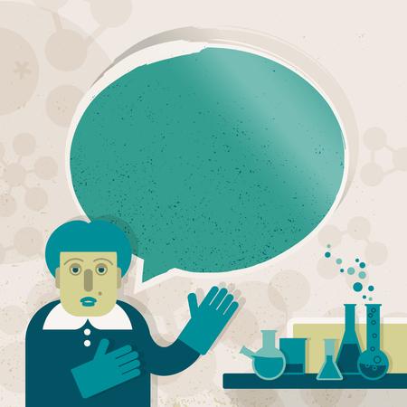 Science teacher image illustration