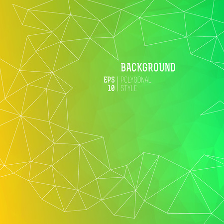 Dark color abstract triangle polygonal background with lines and geometric figures on top vector illustration Ilustrace