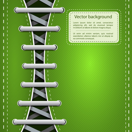 Light footwear shoelace template vector illustration