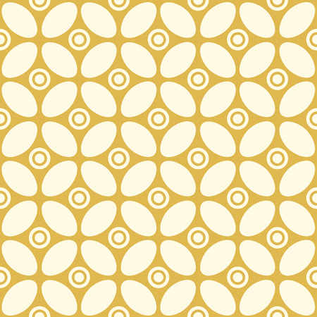 Abstract minimalistic vintage seamless pattern with connected repeating structure in kaleidoscope style vector illustration