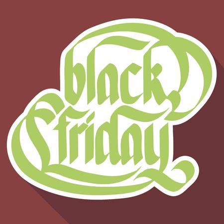 Concepto de etiqueta publicitaria tipográfica con papel manuscrito caligráfico inscripción de viernes negro aislado ilustración vectorial