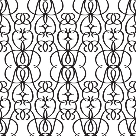 Abstract monochrome seamless pattern with elegant ornate repeating structure in minimalistic style vector illustration Stock Vector - 128174275
