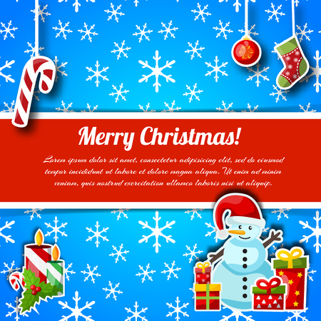 Christmas greetings typography design postcard Standard-Bild - 110819135
