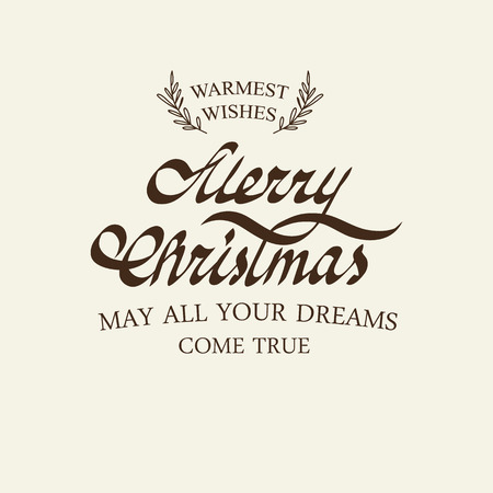 Christmas greetings typography design postcard with wishes all your dreams come true Standard-Bild - 112594017