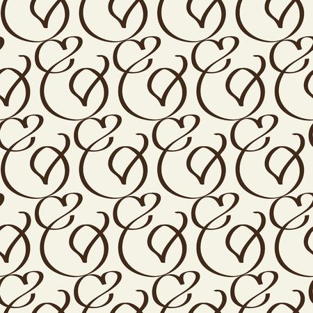 Abstract seamless harmonious design black and white pattern