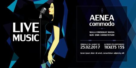 Geometric live music performance advertising brochures
